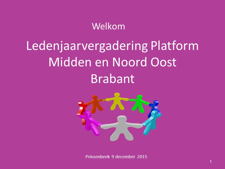 Ledenjaarvergadering Platform Midden en Noord Oost Brabant
