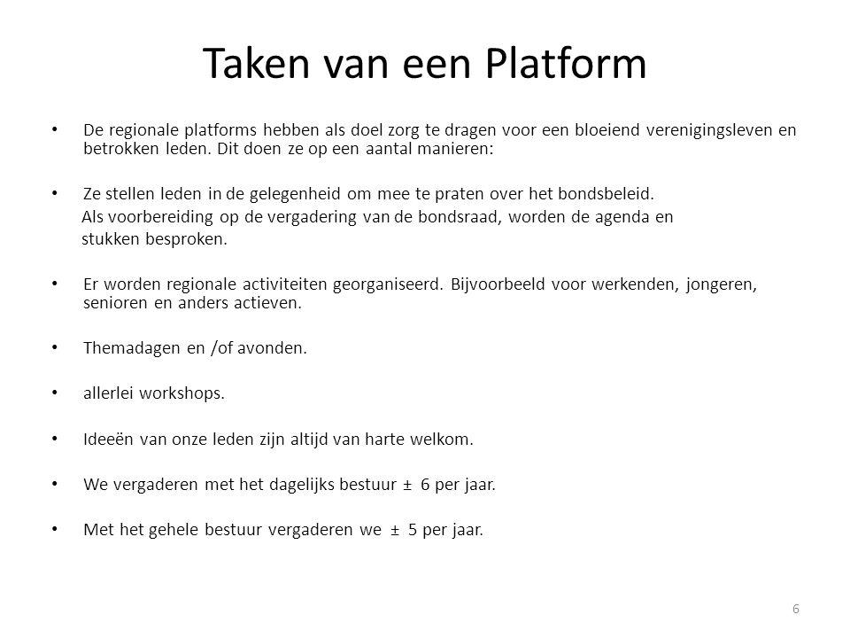 Taken van een Platform