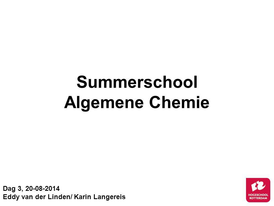 Summerschool Algemene Chemie
