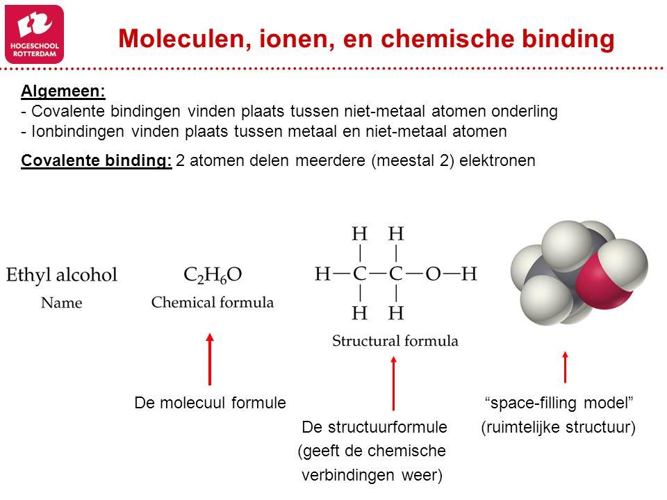 Moleculen, ionen, en chemische binding