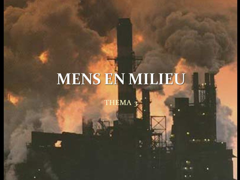 MENS EN MILIEU THEMA 3