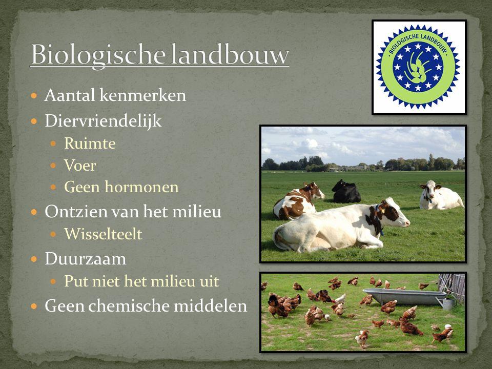 Biologische landbouw Aantal kenmerken Diervriendelijk