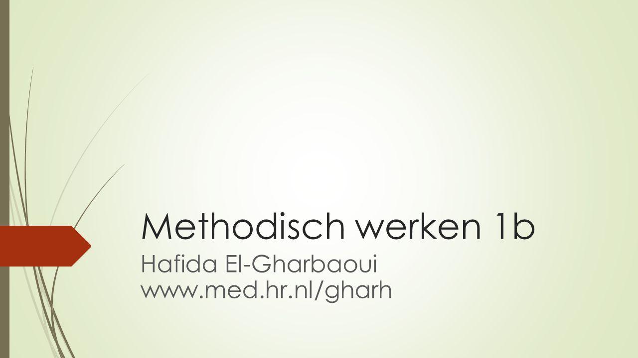 Hafida El-Gharbaoui www.med.hr.nl/gharh