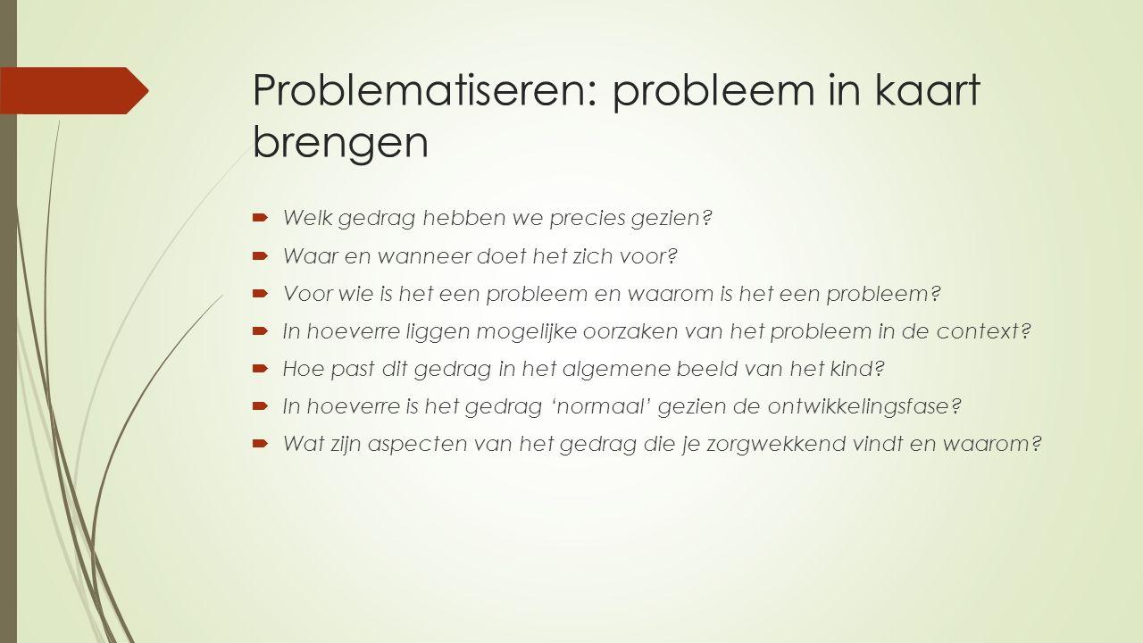 Problematiseren: probleem in kaart brengen