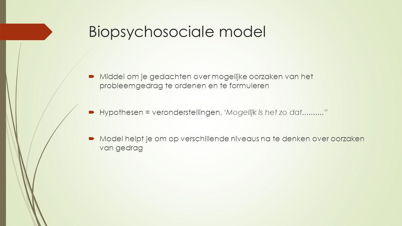 Biopsychosociale model