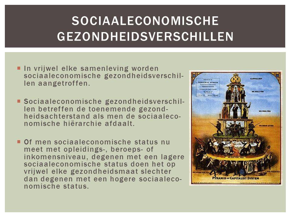 sociaaleconomische gezondheidsverschillen