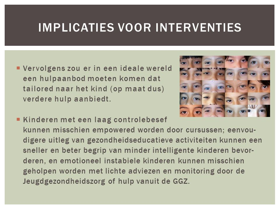Implicaties voor interventies