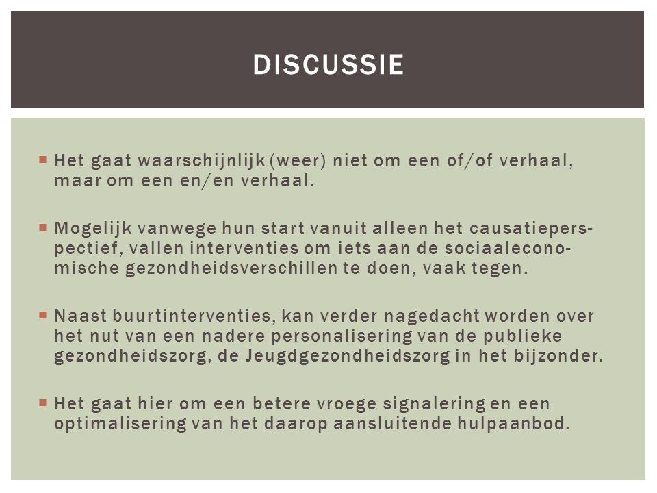 Discussie Het gaat waarschijnlijk (weer) niet om een of/of verhaal, maar om een en/en verhaal.