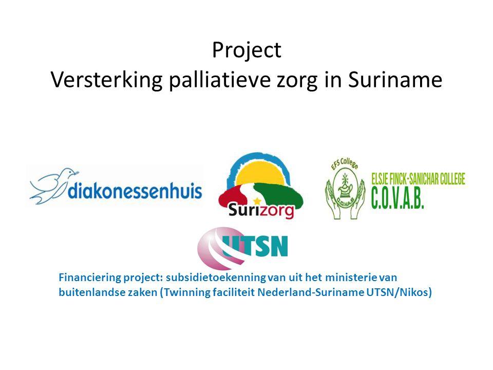 Project Versterking palliatieve zorg in Suriname