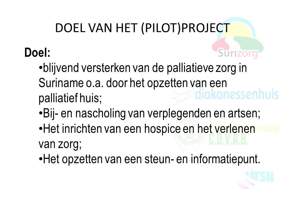 DOEL VAN HET (PILOT)PROJECT