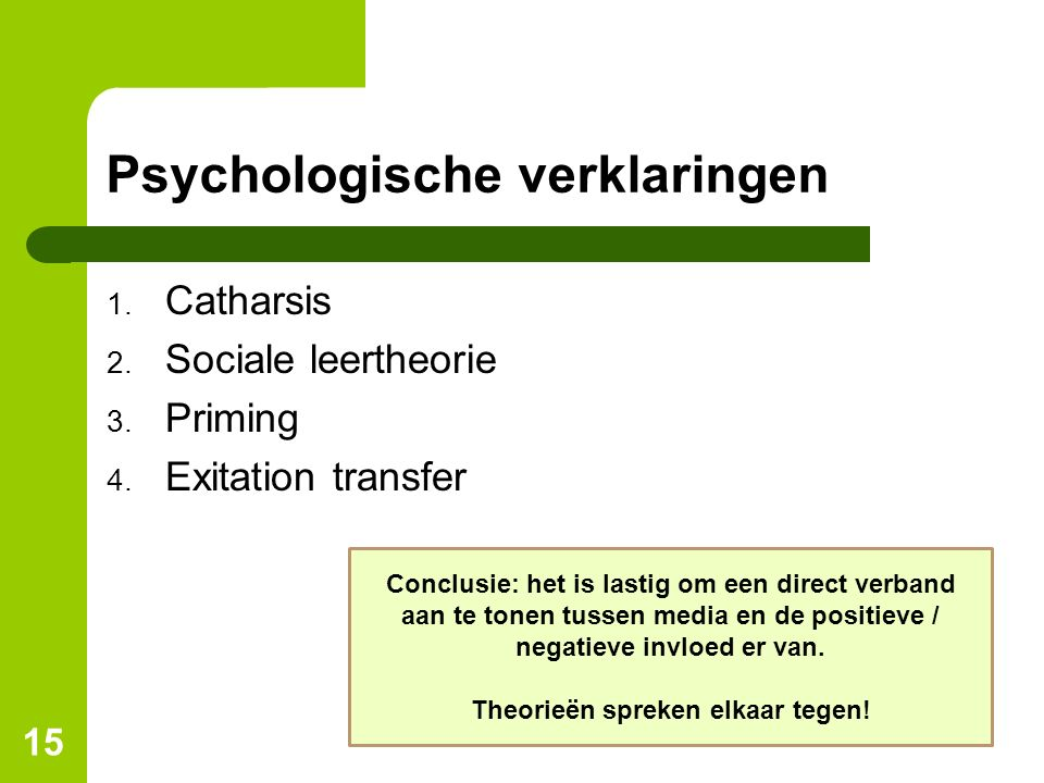 Psychologische verklaringen
