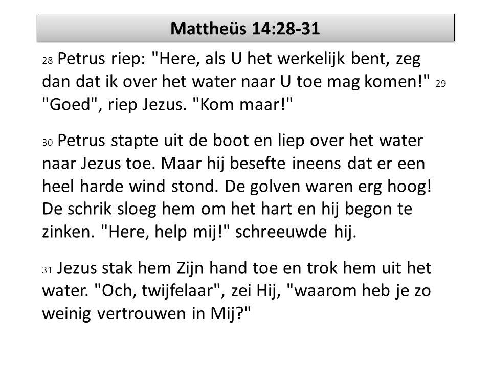 Mattheüs 14:28-31