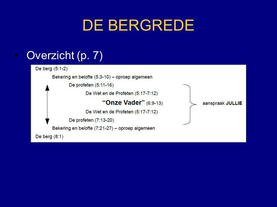 DE BERGREDE Overzicht (p. 7)