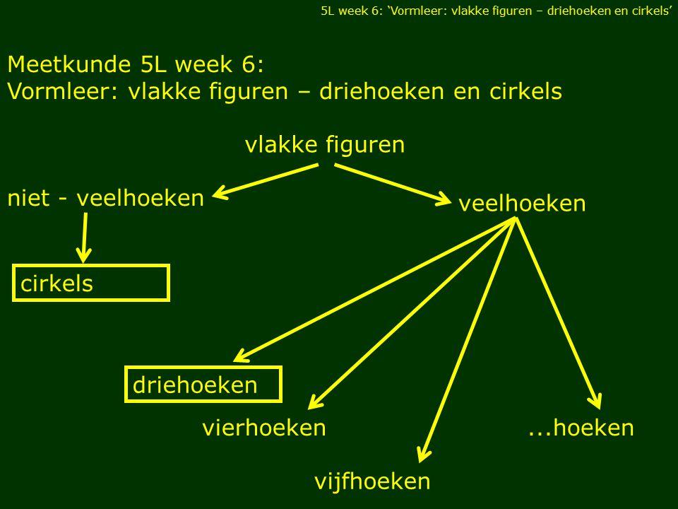 Vormleer: vlakke figuren – driehoeken en cirkels