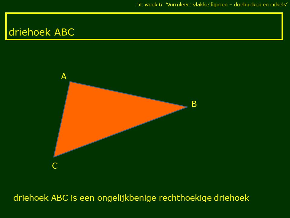 5L week 6: 'Vormleer: vlakke figuren – driehoeken en cirkels'