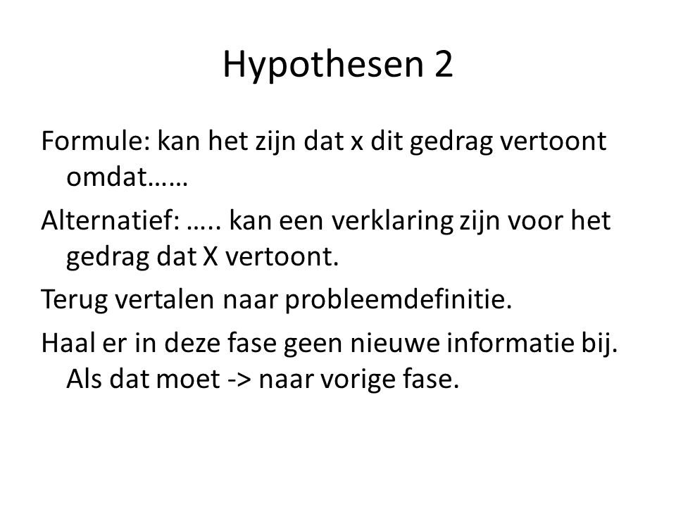 Hypothesen 2