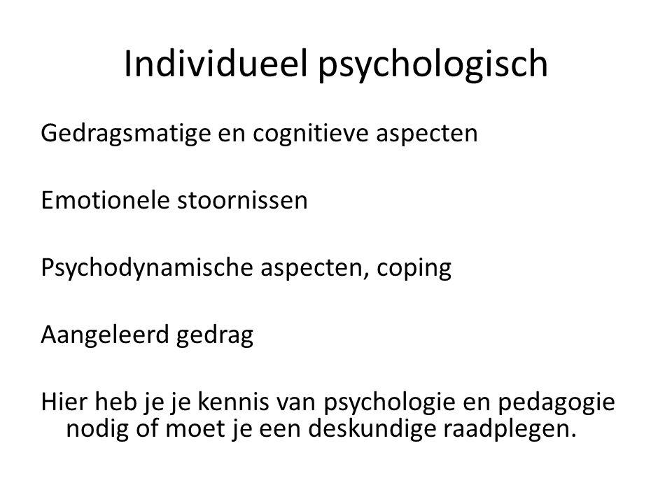 Individueel psychologisch
