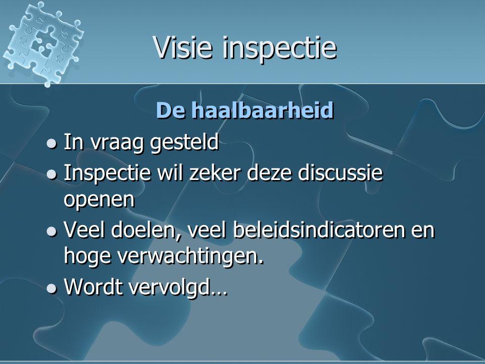Visie inspectie De haalbaarheid In vraag gesteld