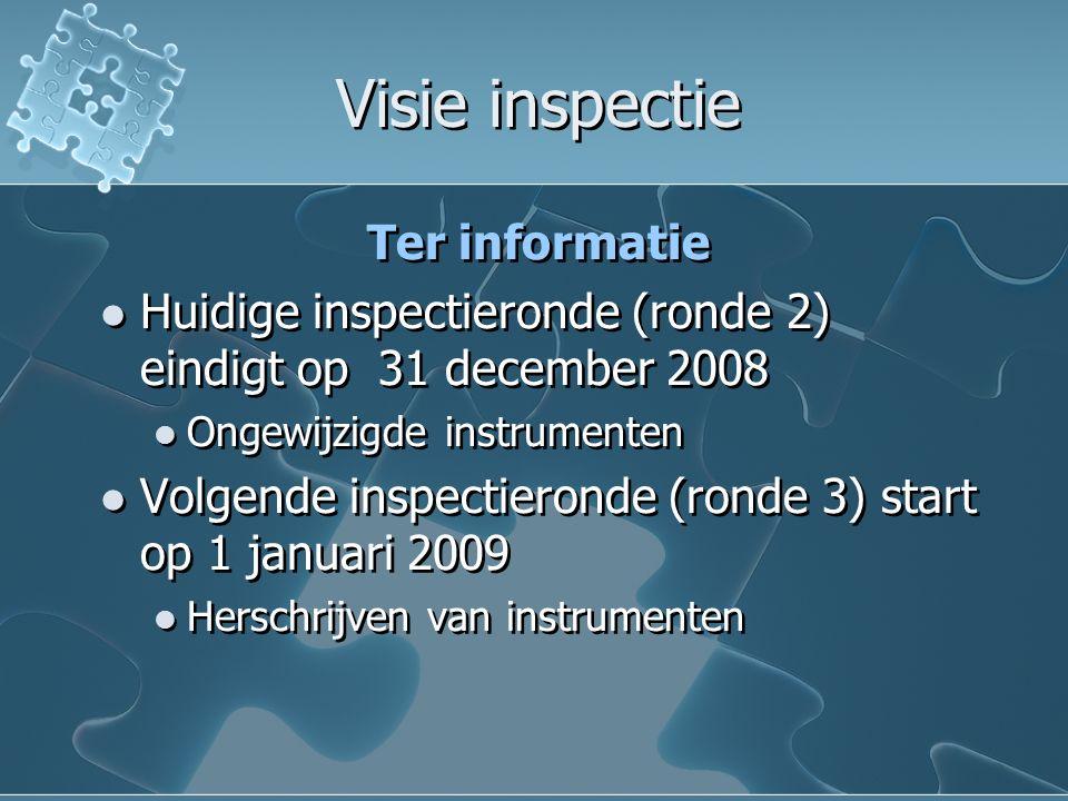 Visie inspectie Ter informatie