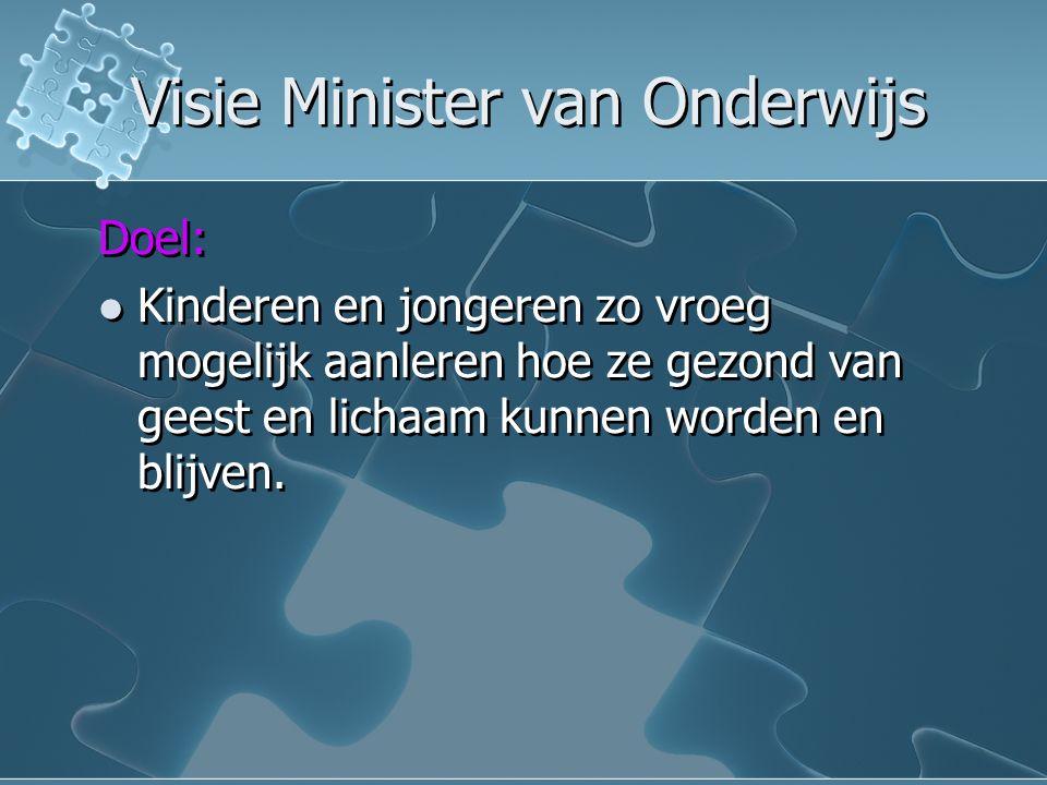 Visie Minister van Onderwijs