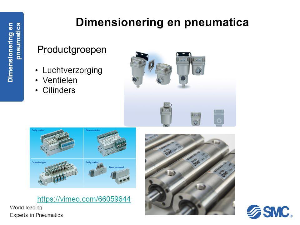 Dimensionering en pneumatica