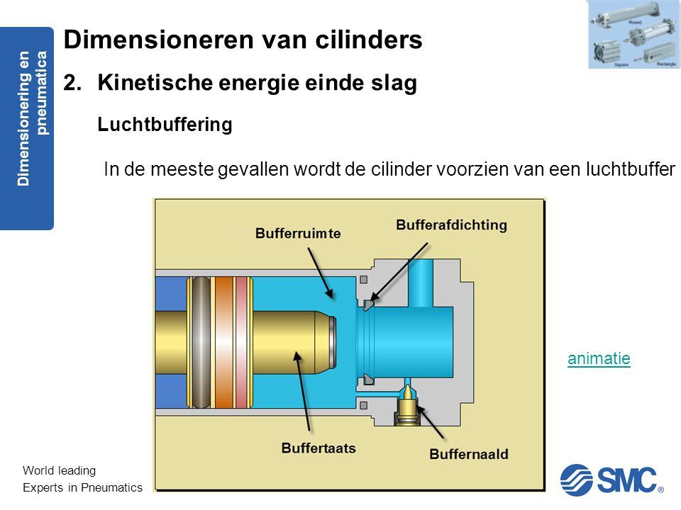 Dimensioneren van cilinders