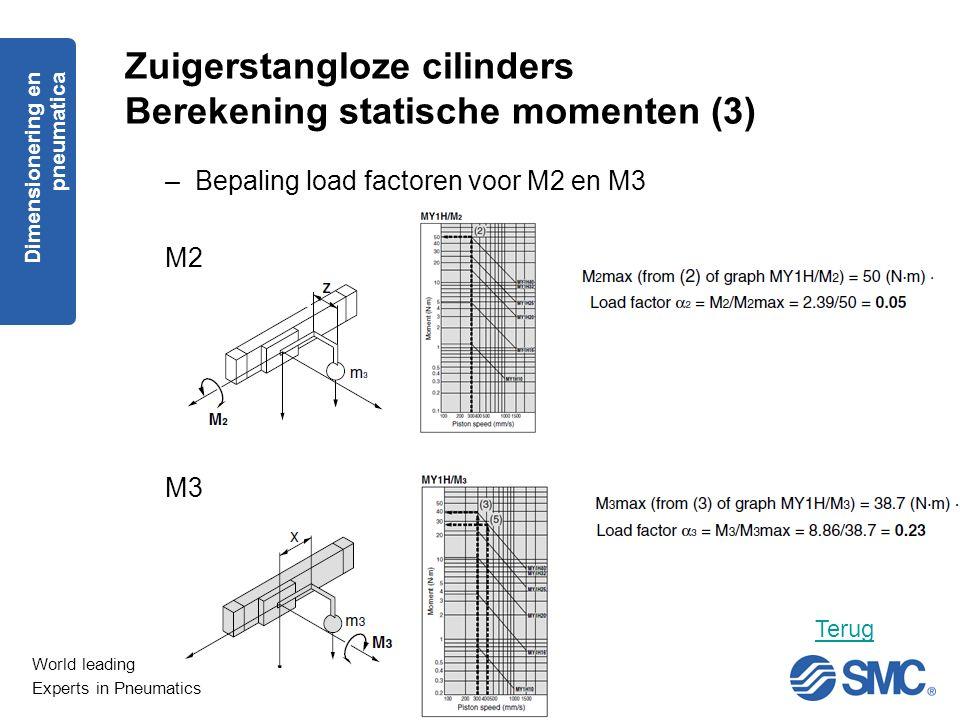 Zuigerstangloze cilinders Berekening statische momenten (3)