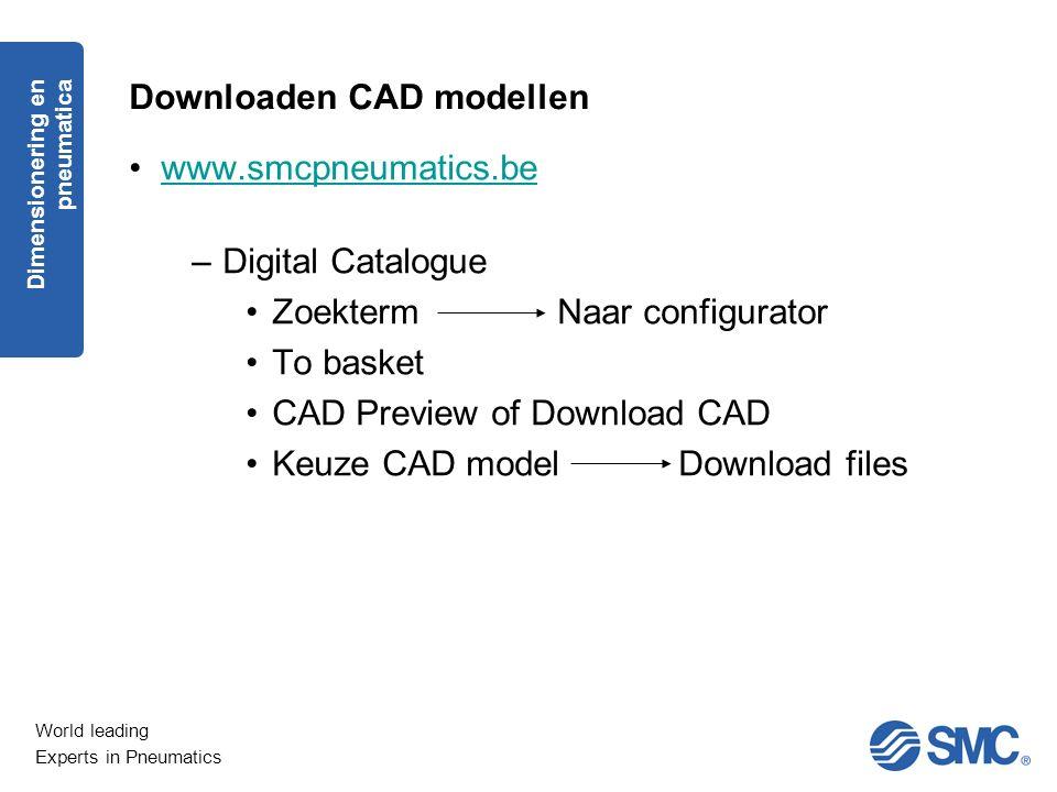 Downloaden CAD modellen