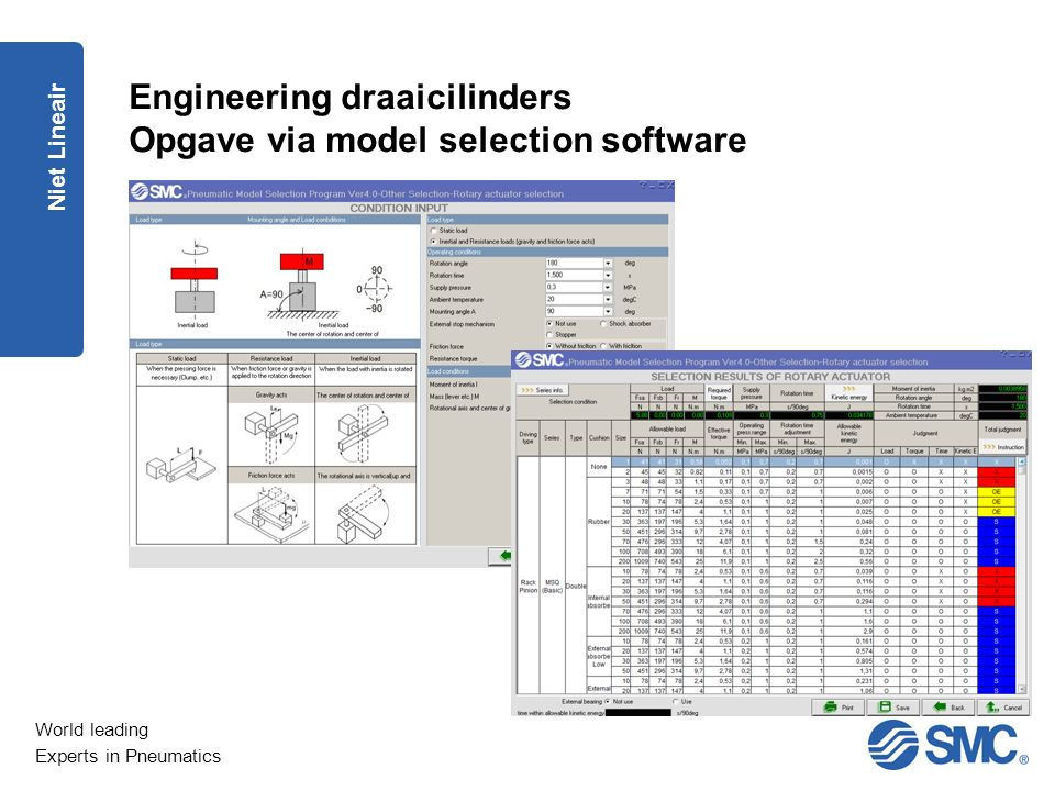 Engineering draaicilinders Opgave via model selection software