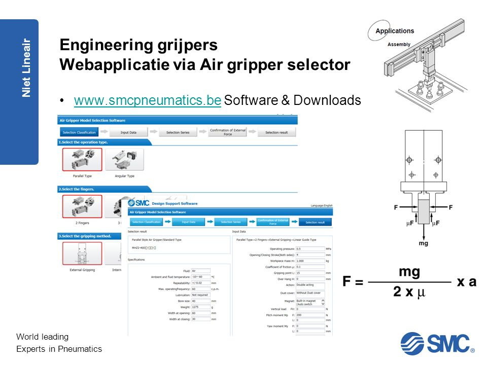 Engineering grijpers Webapplicatie via Air gripper selector