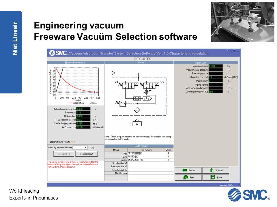 Engineering vacuum Freeware Vacuüm Selection software
