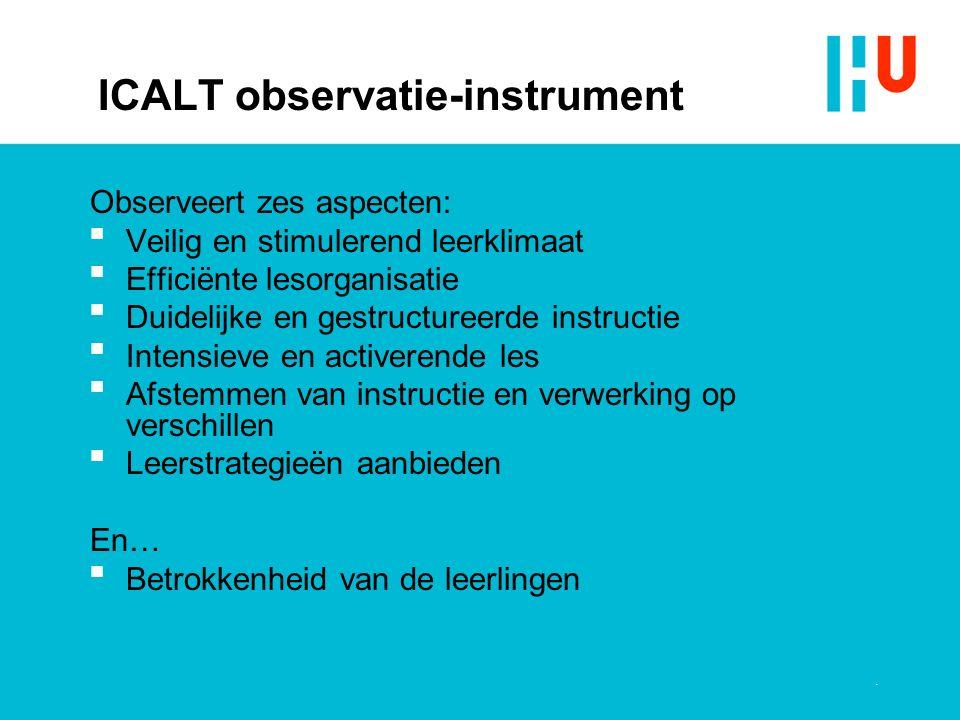 ICALT observatie-instrument
