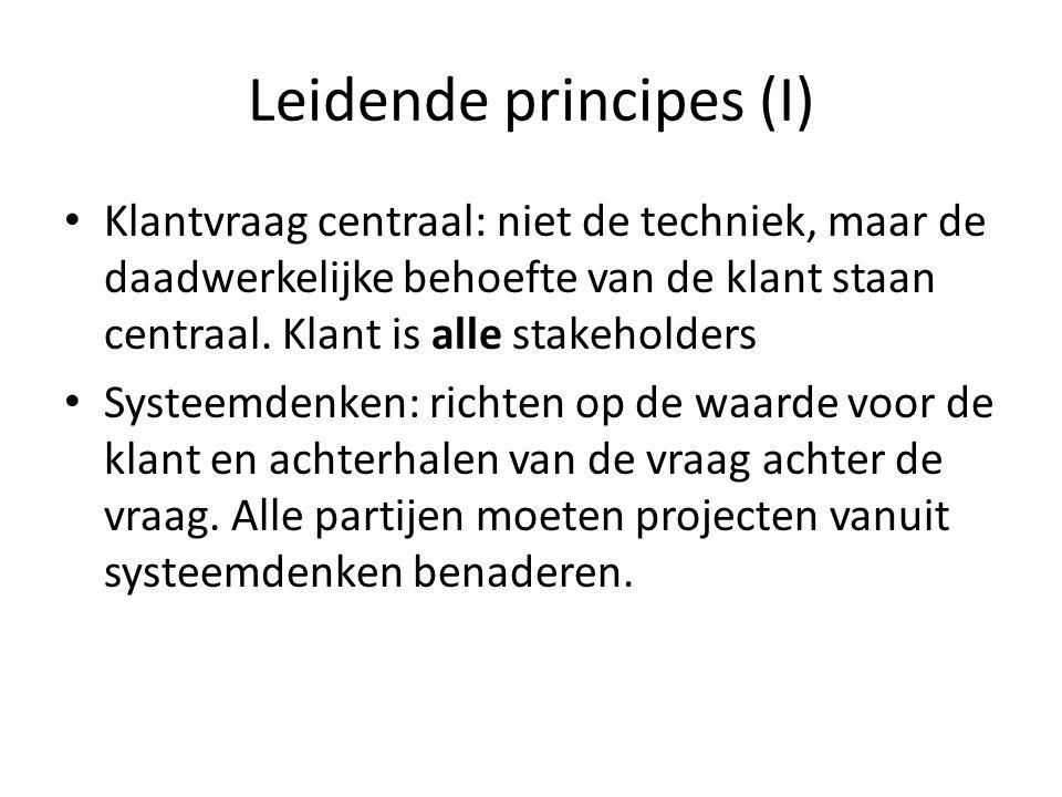 Leidende principes (I)