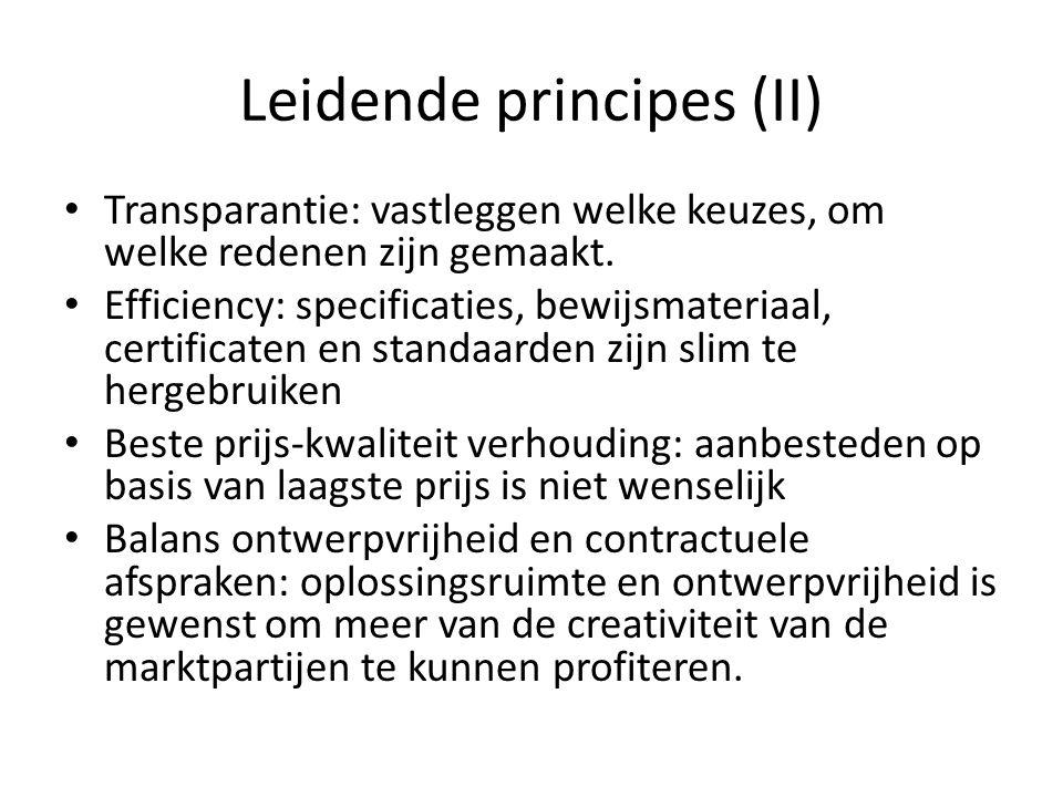 Leidende principes (II)