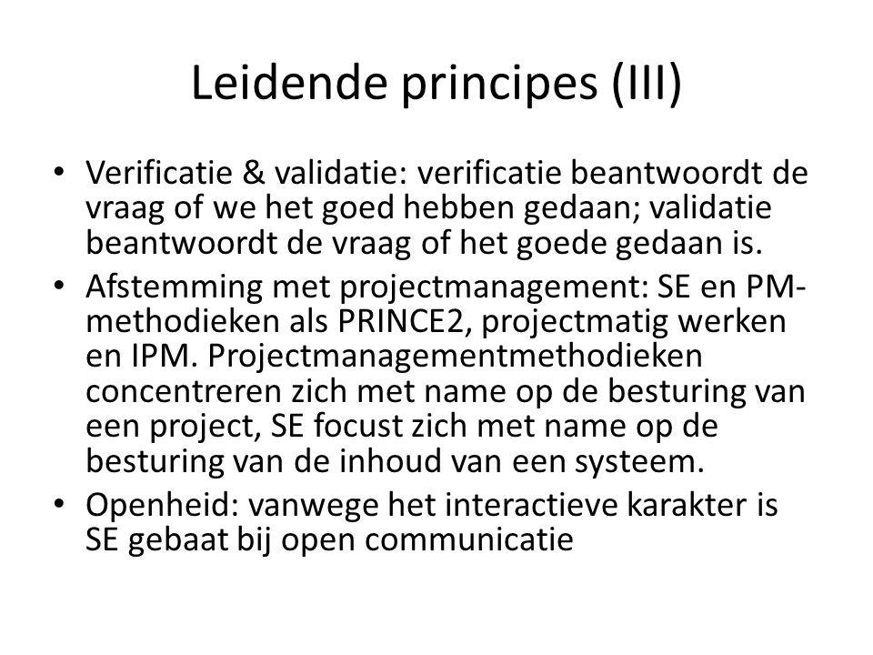 Leidende principes (III)
