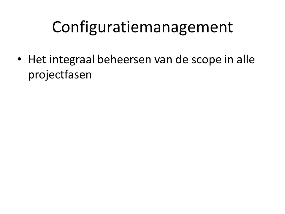 Configuratiemanagement