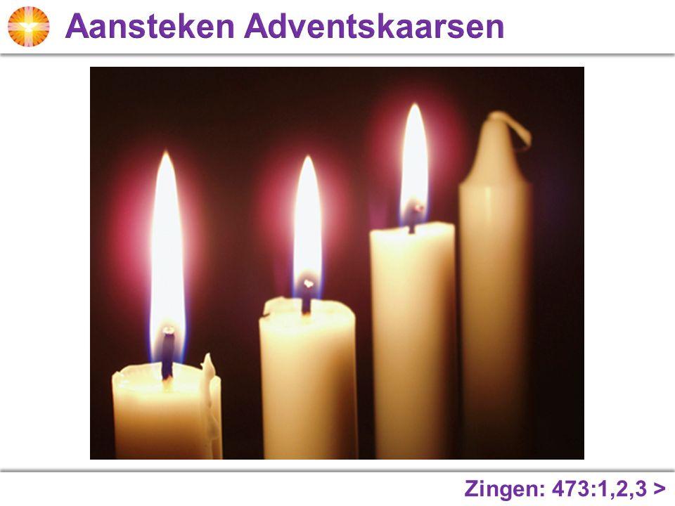 Aansteken Adventskaarsen