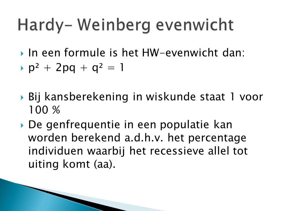 Hardy- Weinberg evenwicht