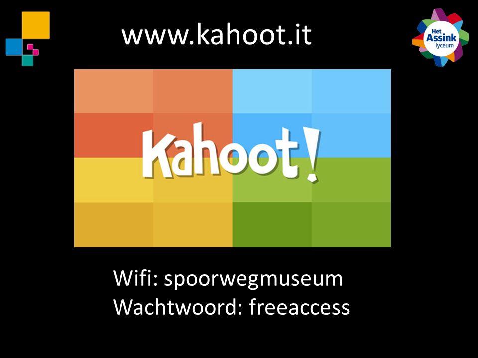 www.kahoot.it Wifi: spoorwegmuseum Wachtwoord: freeaccess
