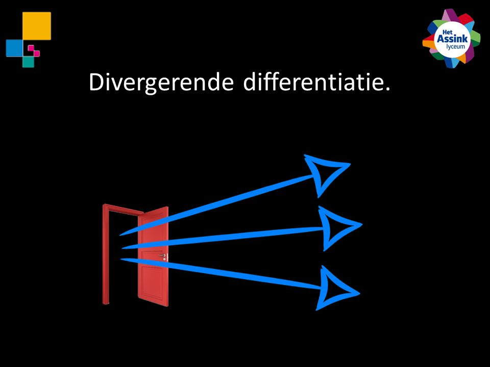 Divergerende differentiatie.
