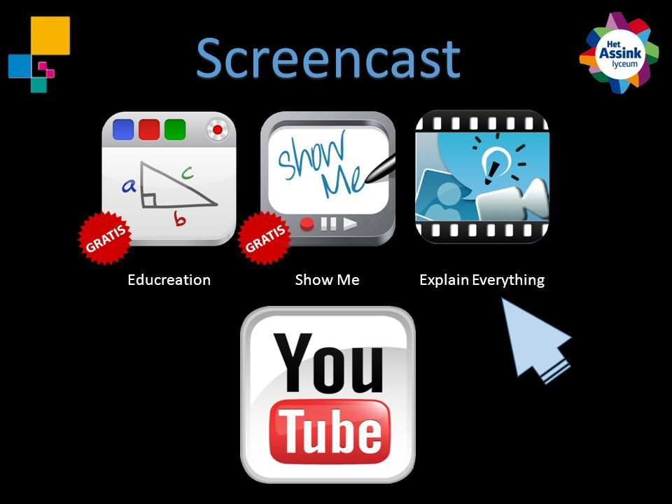 Screencast Educreation Show Me Explain Everything