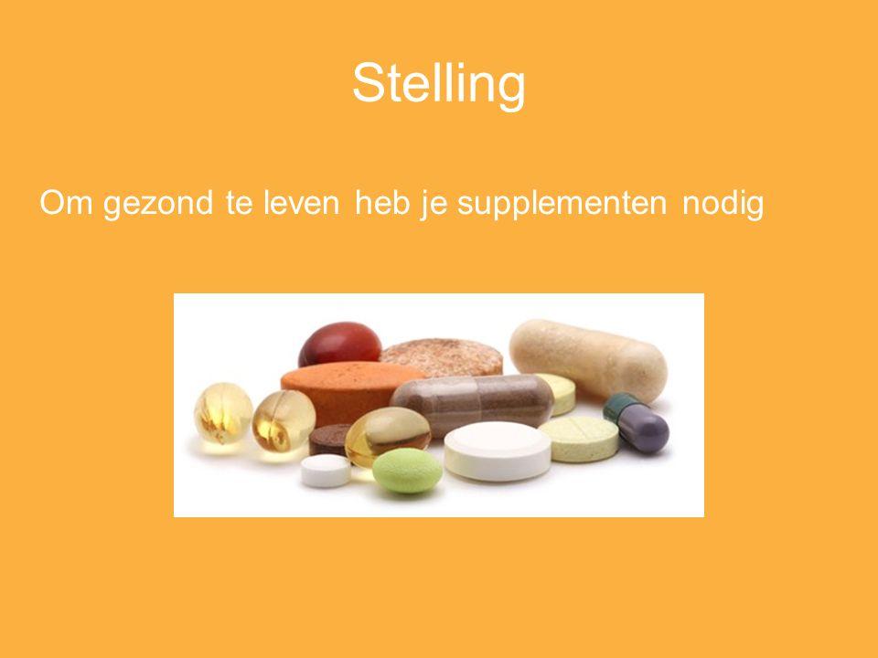 Stelling Om gezond te leven heb je supplementen nodig