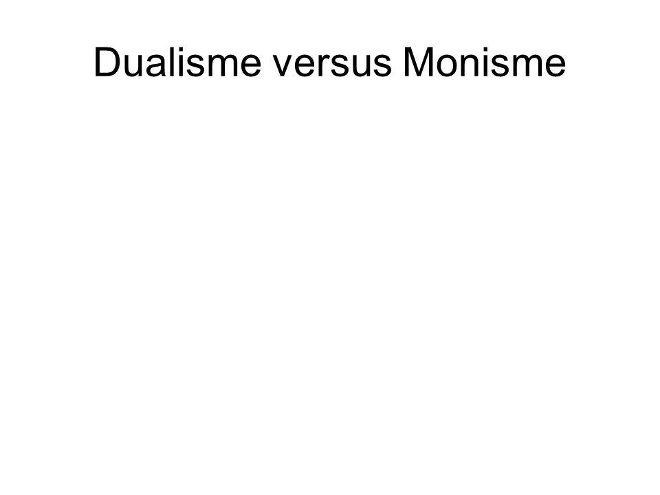 Dualisme versus Monisme