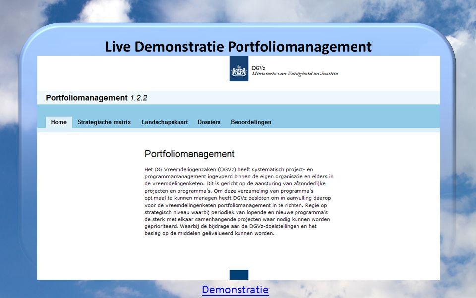 Live Demonstratie Portfoliomanagement