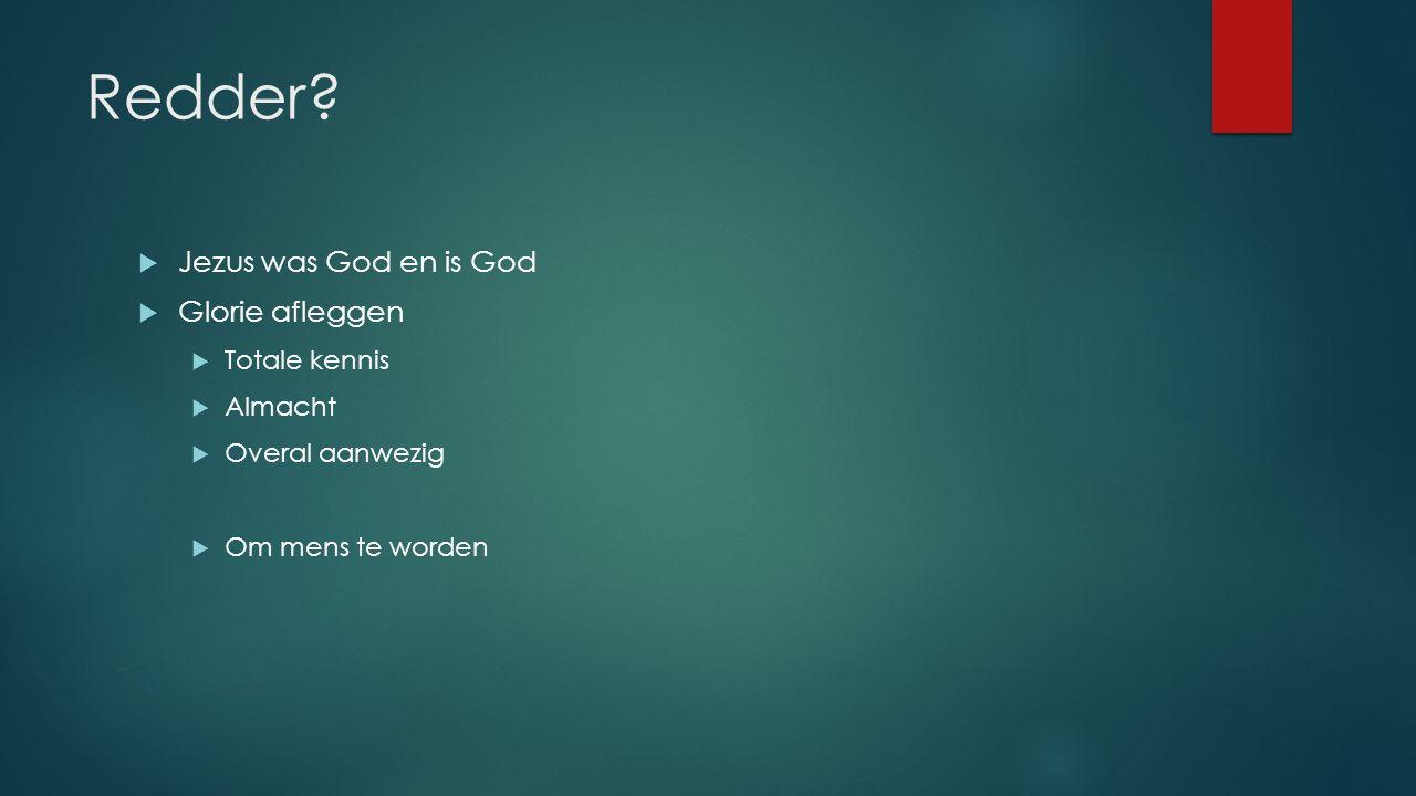 Redder Jezus was God en is God Glorie afleggen Totale kennis Almacht