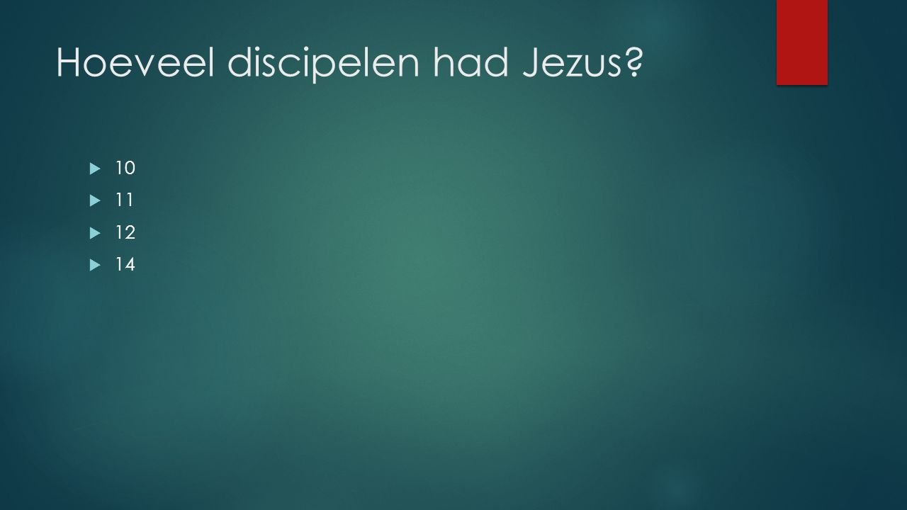 Hoeveel discipelen had Jezus