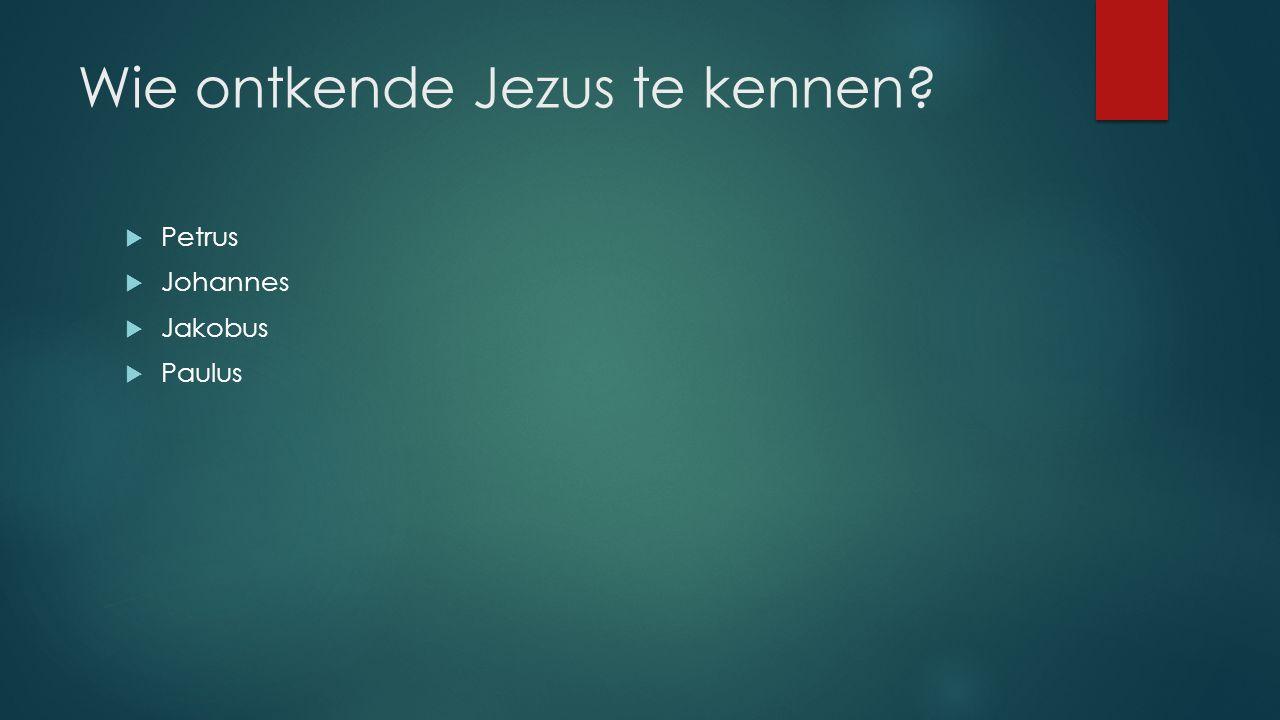 Wie ontkende Jezus te kennen