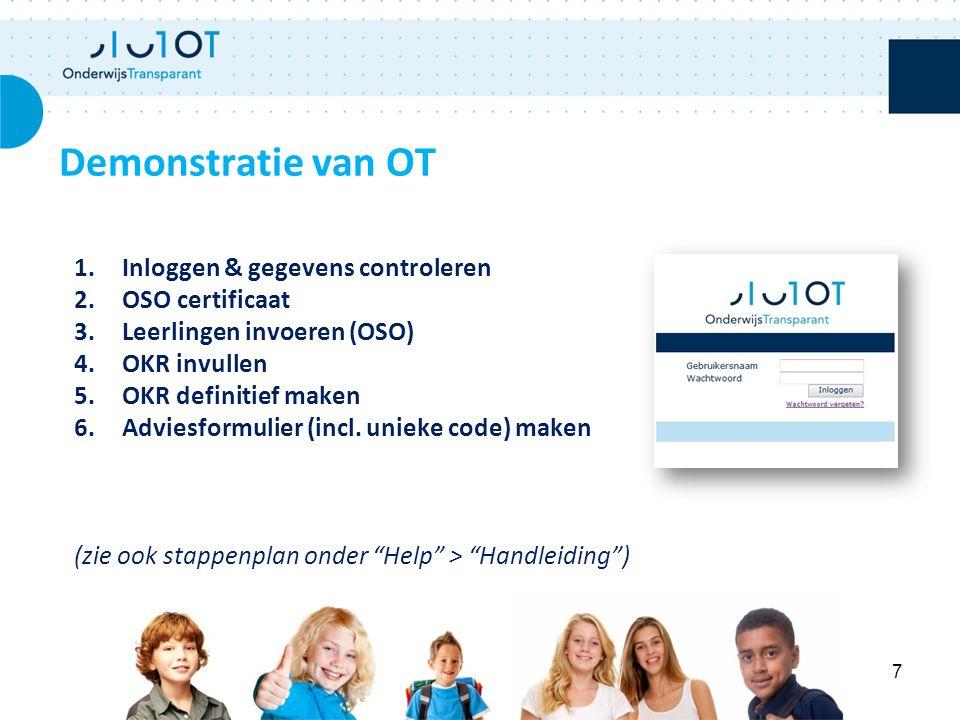 Demonstratie van OT Inloggen & gegevens controleren OSO certificaat