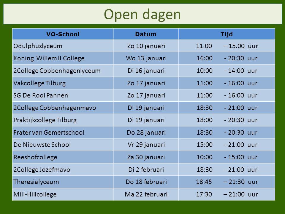 Open dagen Odulphuslyceum Zo 10 januari 11.00 – 15.00 uur