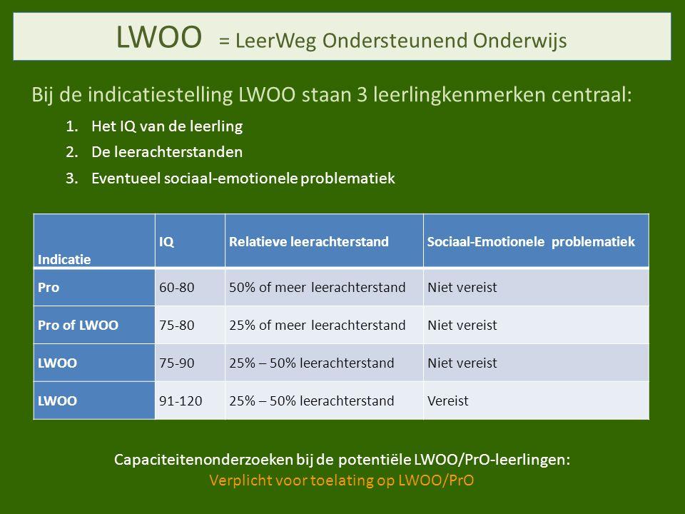 LWOO = LeerWeg Ondersteunend Onderwijs
